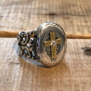 prayer locket ring