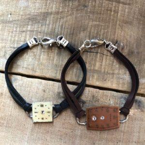 watch face deerskin bracelet