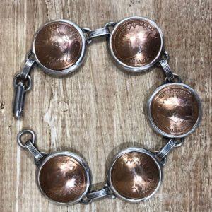 indian head penny bezel bracelet