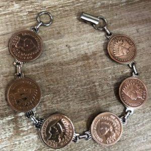 indian head penny bracelet