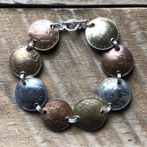 domed coin bracelet