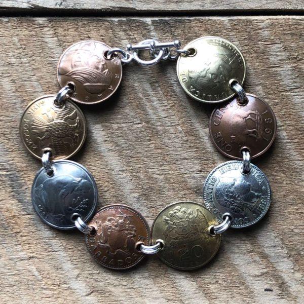 domed coin bracelet
