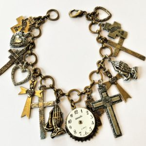 time for prayer charm bracelet