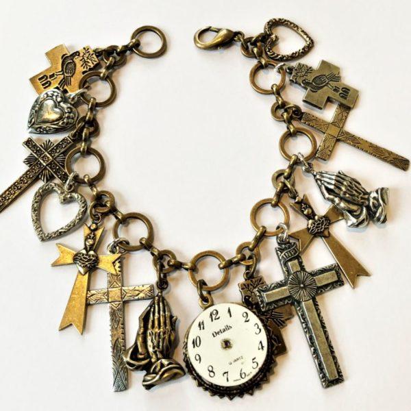 time for prayer charm bracelet