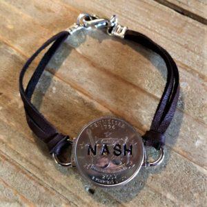tennessee state deerskin bracelet nash